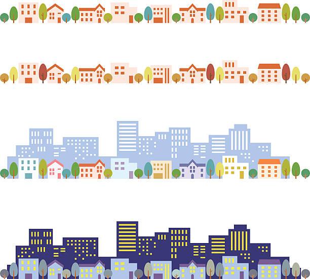 街並みのイラスト - 町点のイラスト素材/クリップアート素材/マンガ素材/アイコン素材