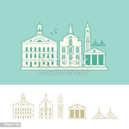 18 Boston Custom House Illustrations Clip Art Istock