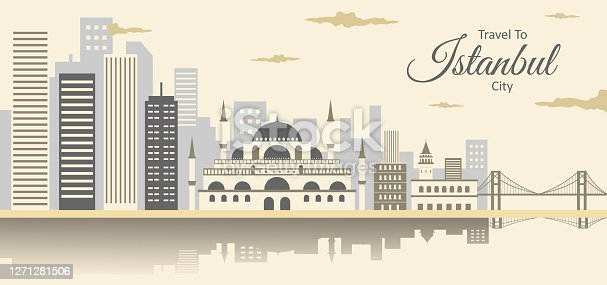 istock Cityscape of Istanbul with Suleymaniye Mosque (Ottoman imperial mosque) with Bosphorus Bridge, Fatih Sultan Mehmet Bridge. Istanbul landscape beautiful view. Istanbul, Turkey. 1271281506