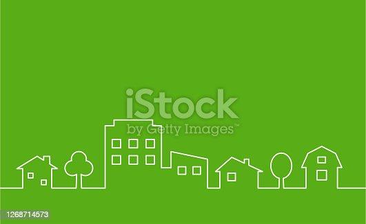 istock cityscape outline icon 1268714573