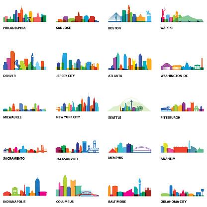 US Cityscape Overlays 2 - Illustration