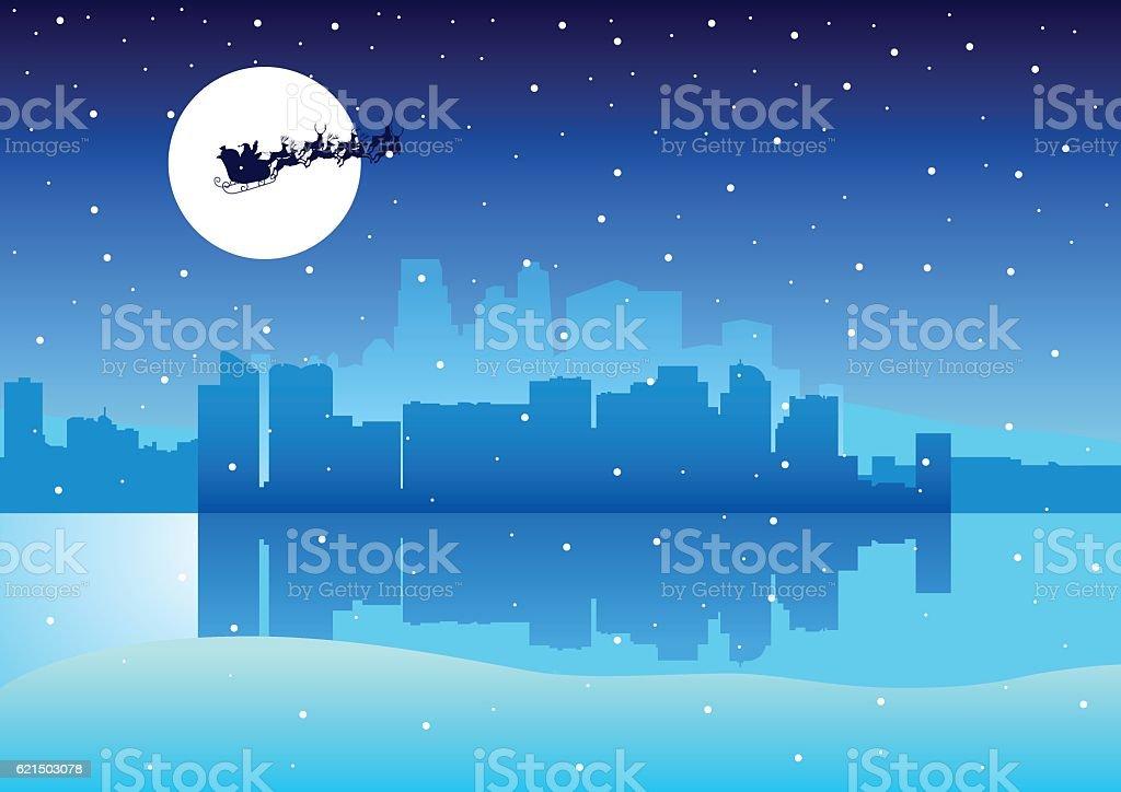 Cityscape Santa Claus cityscape santa claus – cliparts vectoriels et plus d'images de beauté de la nature libre de droits