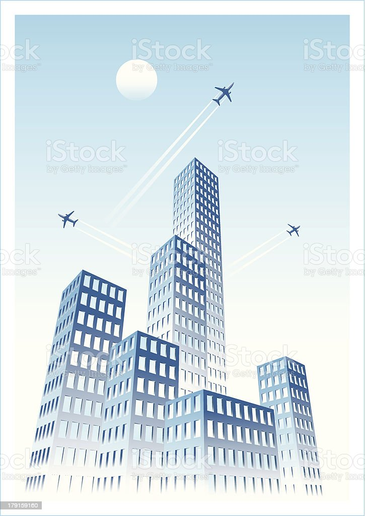 Cityscape Two Cool royalty-free stock vector art