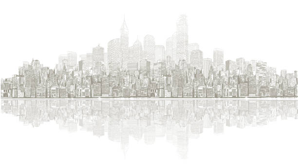 stadsbild vektorkonstillustration