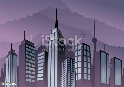 Cartoon city.