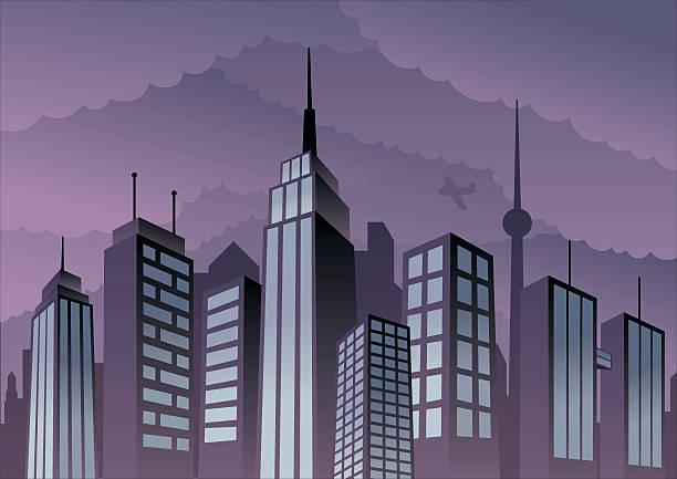 街の景観 - 漫画の風景点のイラスト素材/クリップアート素材/マンガ素材/アイコン素材