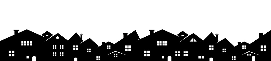 house silhouettes stock illustrations