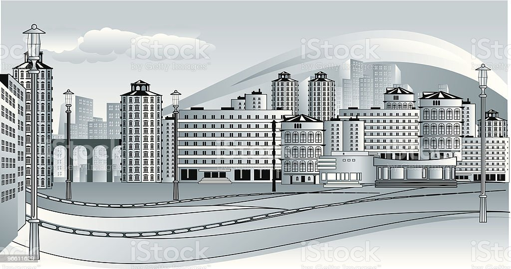 cityscape - Royaltyfri Arkitektur vektorgrafik