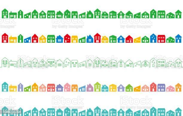 カラフルな家と街並み - アイコンのベクターアート素材や画像を多数ご用意