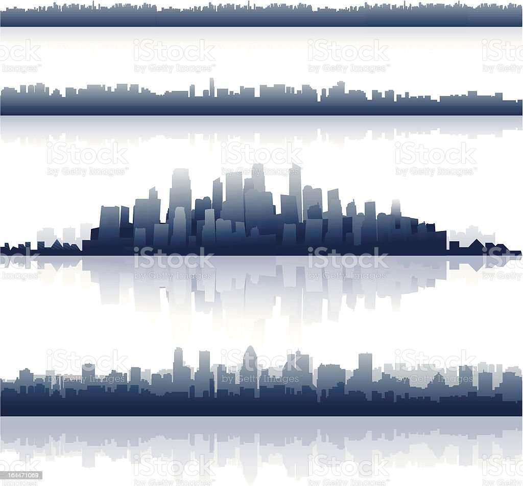 Cityscapes vector art illustration
