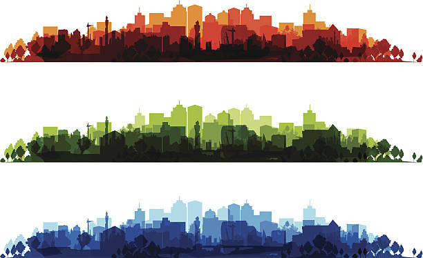 cityscapes colourful cityscapes ziek stock illustrations