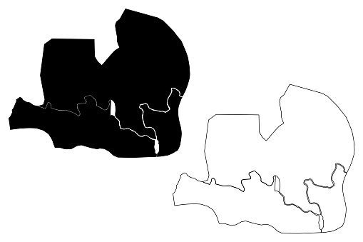 Ciudad de la Paz City (Republic of Equatorial Guinea, Djibloho Province) map vector illustration, scribble sketch City of Oyala map
