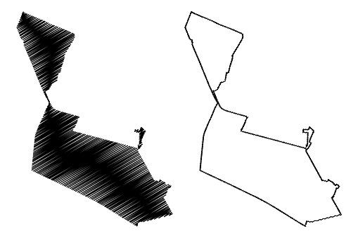 Ciudad Nezahualcoyotl City (United Mexican States, Mexico) map vector illustration, scribble sketch City of Neza or Nezahualcoyotl map