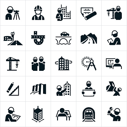 Civil Engineering Icons clipart