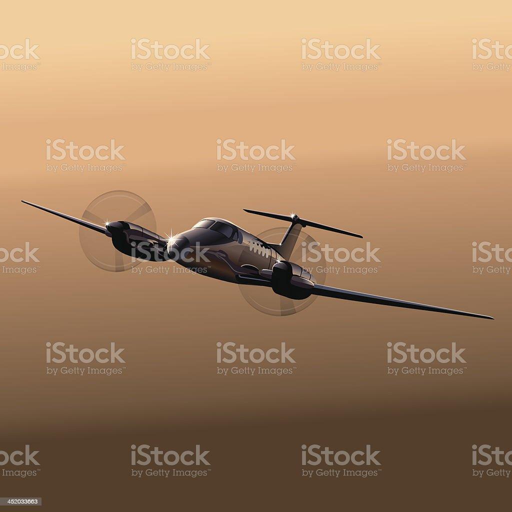 Civil utility aircraft royalty-free stock vector art