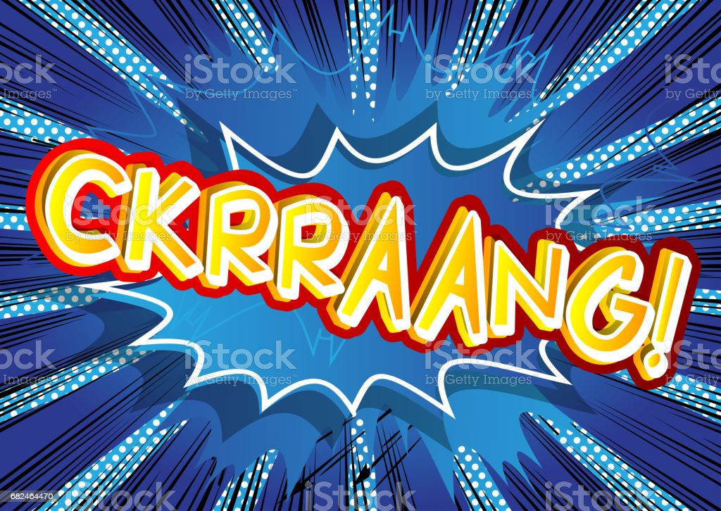 Ckrraang! - Comic book style expression. royalty-free ckrraang comic book style expression stock vector art & more images of balloon