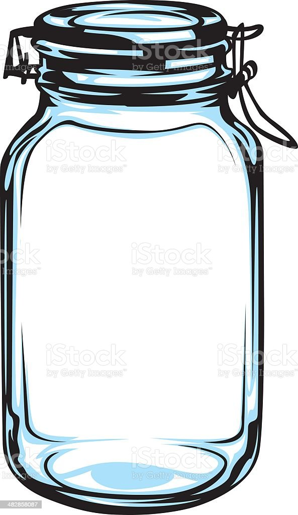 Clamp Jar Stock Vector Art & More Images of Airtight ...