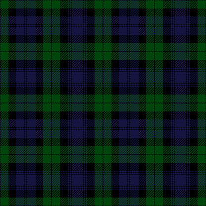 Clan Black Watch Tartan Plaid Scottish Pattern Stock Illustration
