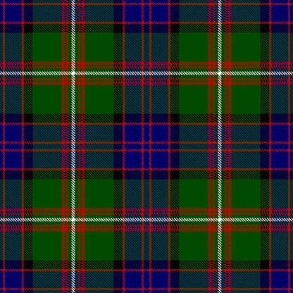 Clan MacDonald Of Clanranald Scottish Tartan Plaid Textile Pattern
