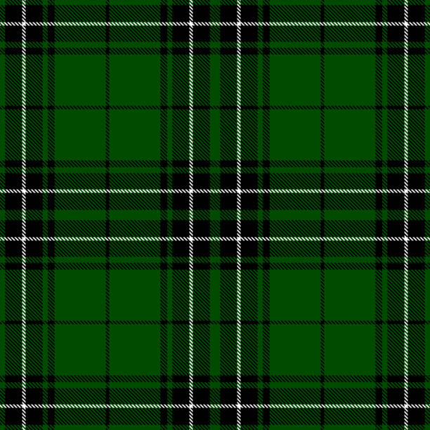Clan MacLean Scottish Highland Tartan Plaid Textile Pattern Clan MacLean Scottish highland tartan plaid seamless textile pattern background. tartan pattern stock illustrations