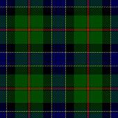 Clan Ogilvy Scottish tartan plaid seamless textile pattern background.