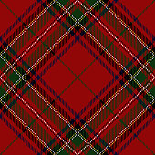 Clan Stewart Scottish tartan plaid seamless diagonal pattern.