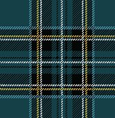 Clan Stewart seamless blue tartan plaid textile design.