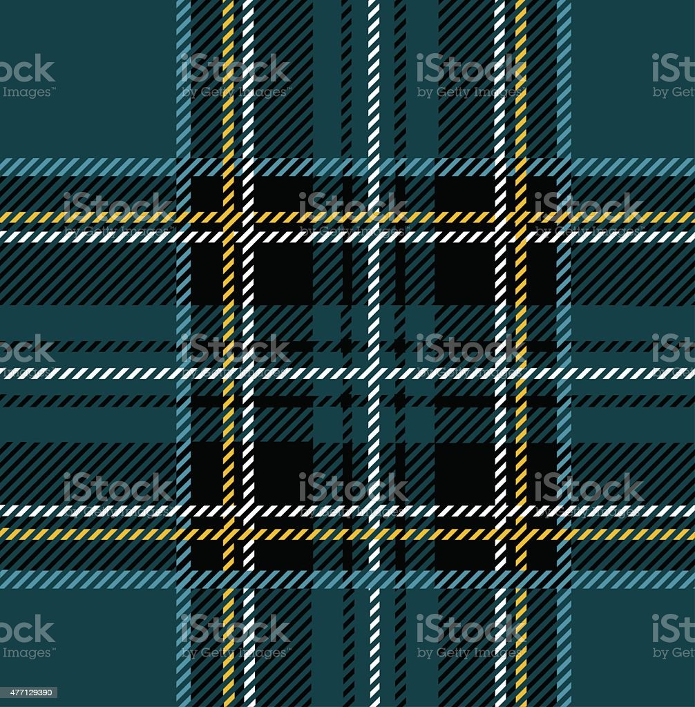 Clan Stewart Tartan Plaid Textile Design vector art illustration