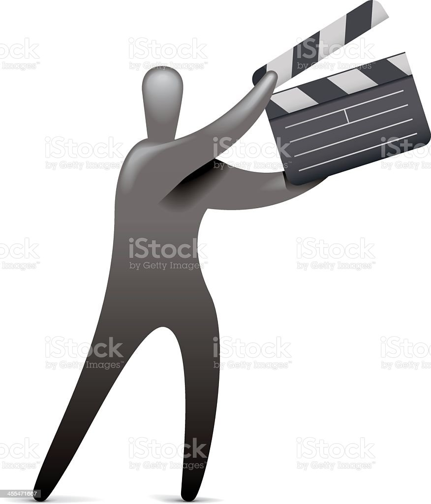 Clapper Board Action royalty-free stock vector art