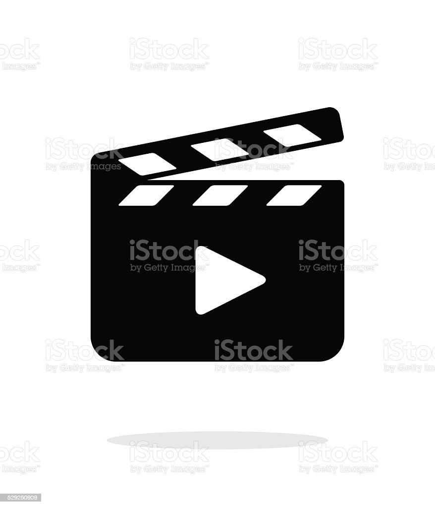 Clapper board open icon on white background. vector art illustration