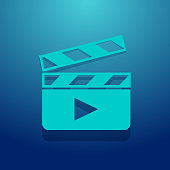Clapperboard Icon. Each element in a separate layers. Very easy to edit vector EPS10 file. It has transparency layers with blend effects.