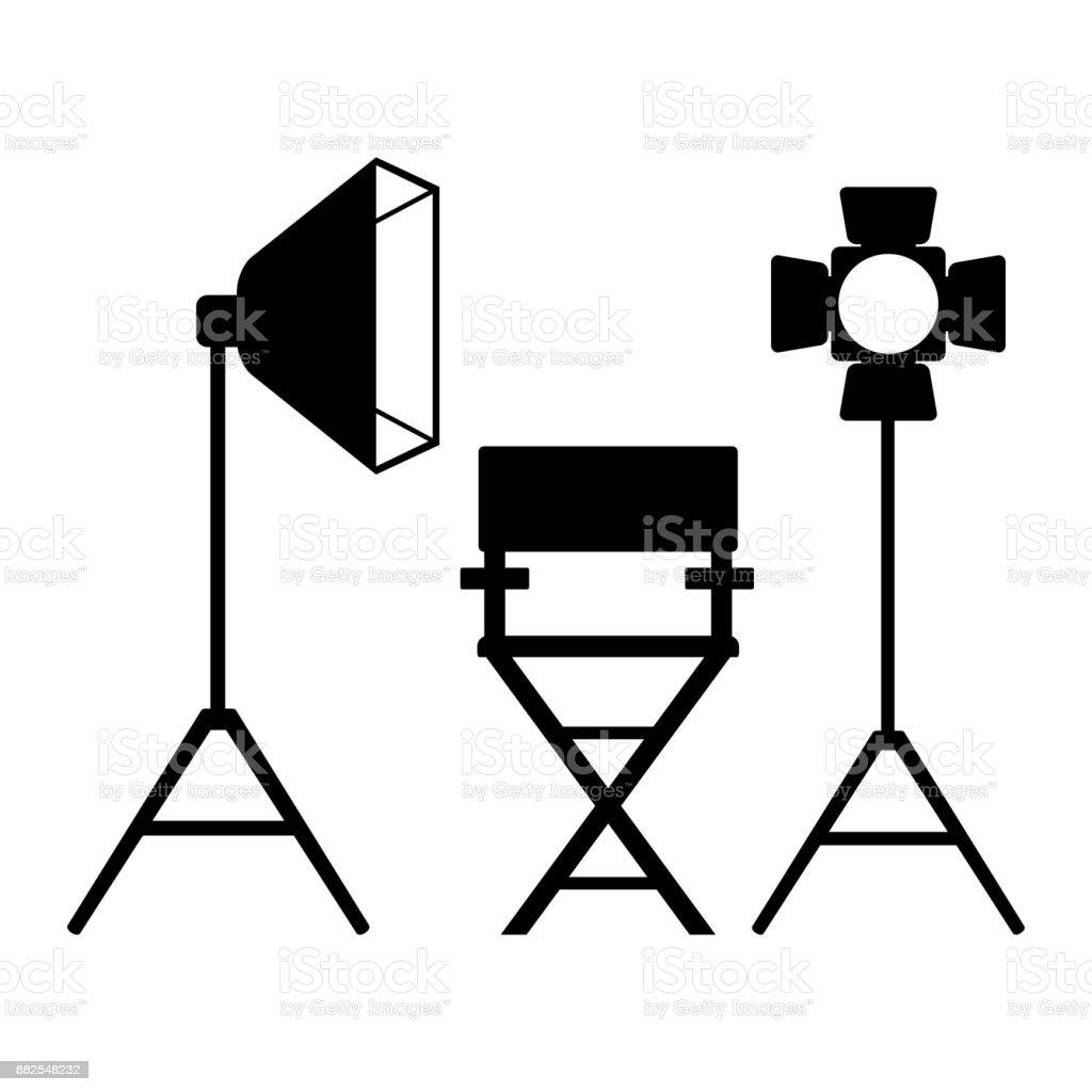 clapperboard sinema banner vector art illustration