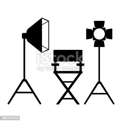 clapperboard sinema banner stock vector art more images of