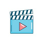 istock clapperboard with video movie studio icon 854826750