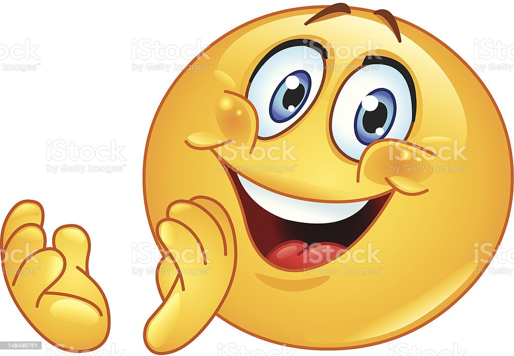 Clapping Emoticon Stock Vector Art Amp More Images Of Adult