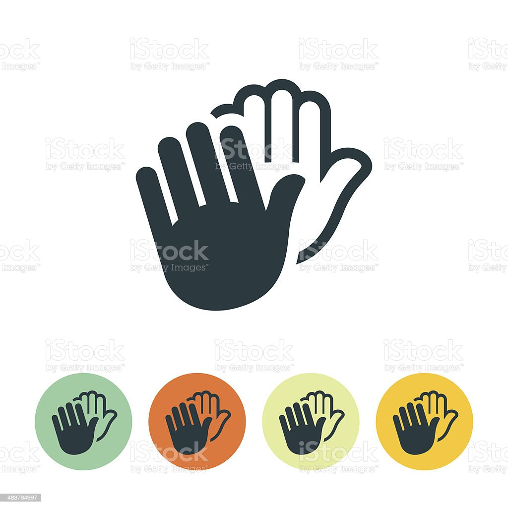 Clapping Hands Icon vector art illustration