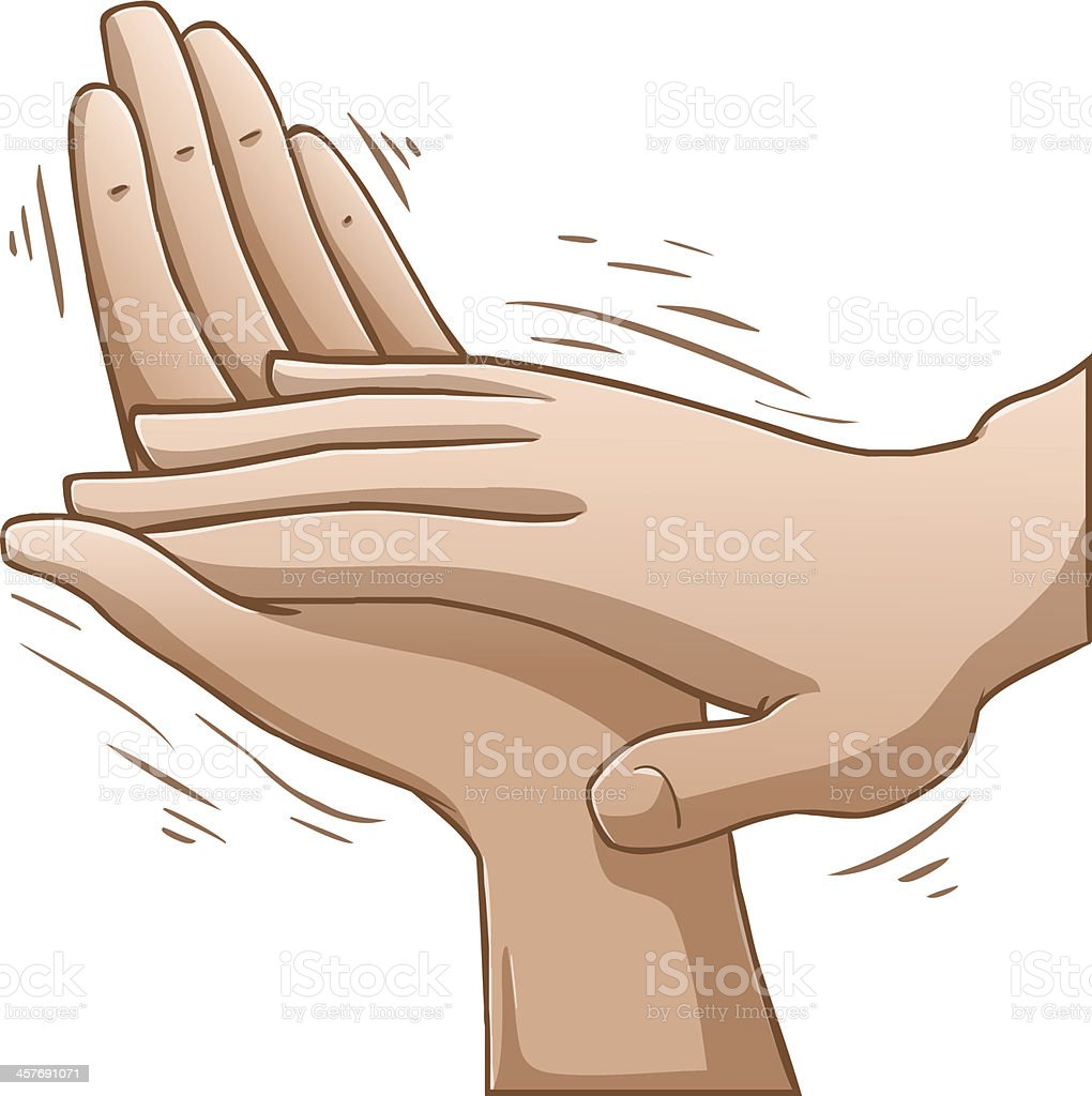 Clapping Hands vector art illustration
