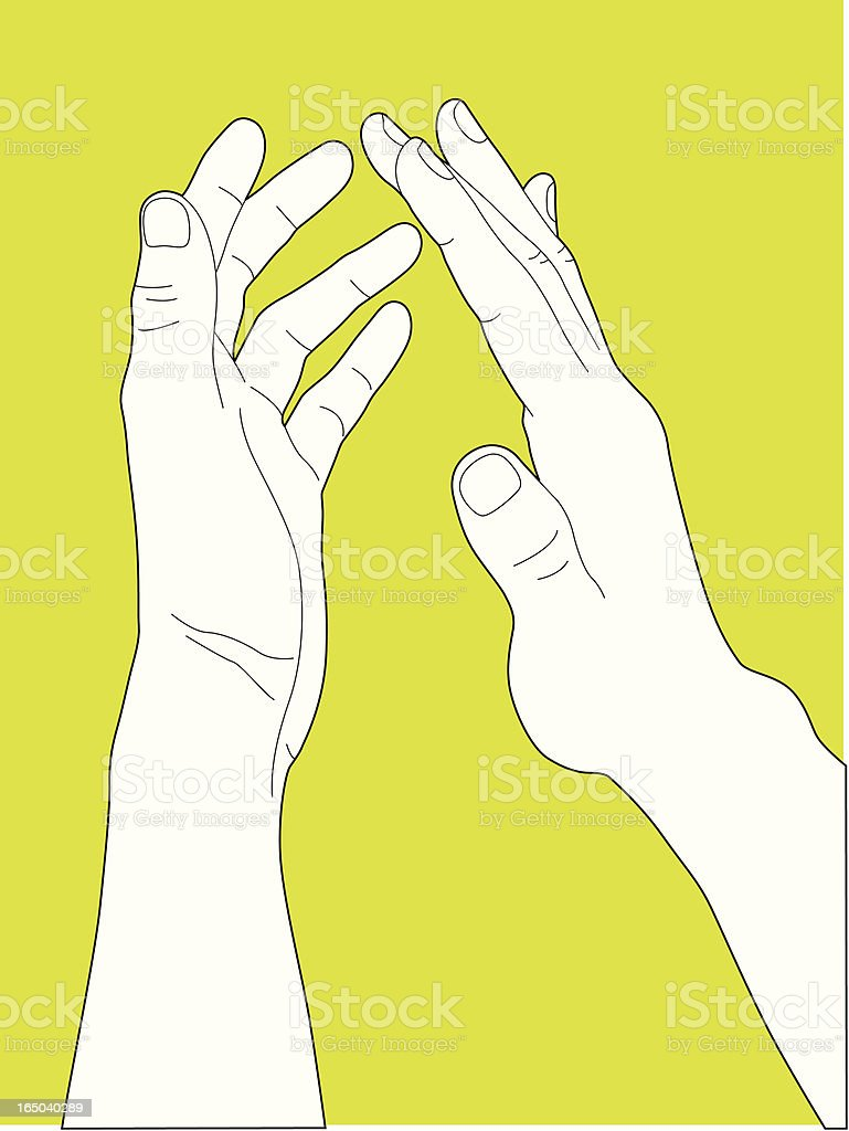 Clapping royalty-free stock vector art
