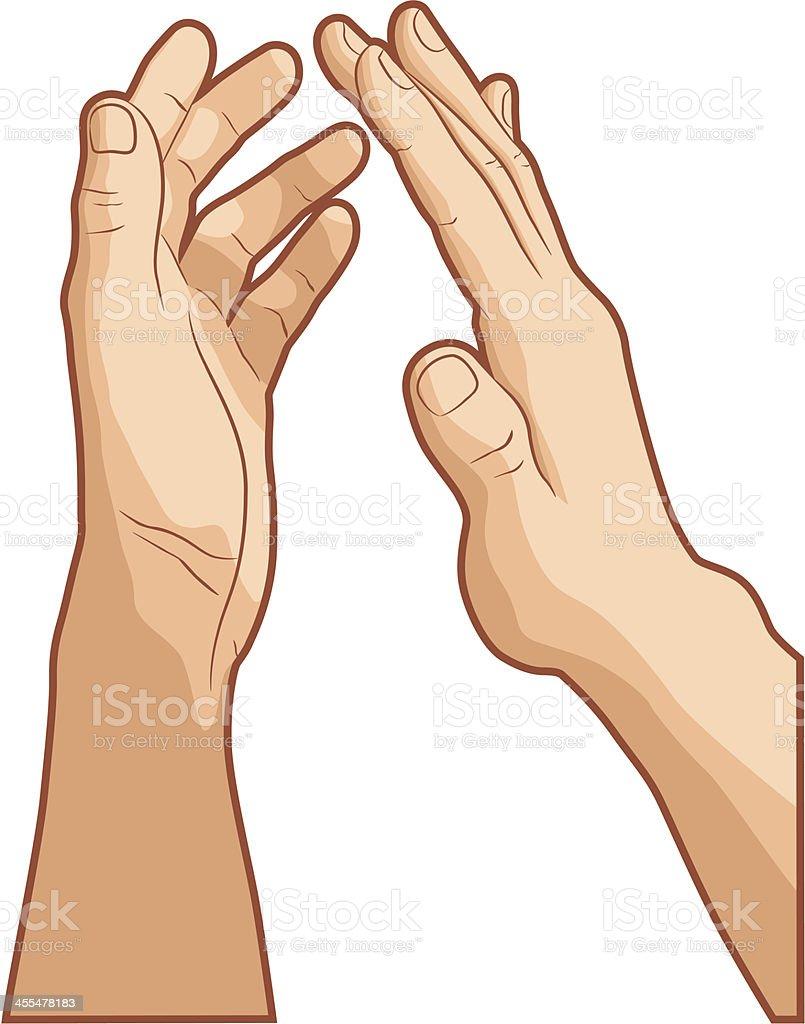 Clapping vector art illustration