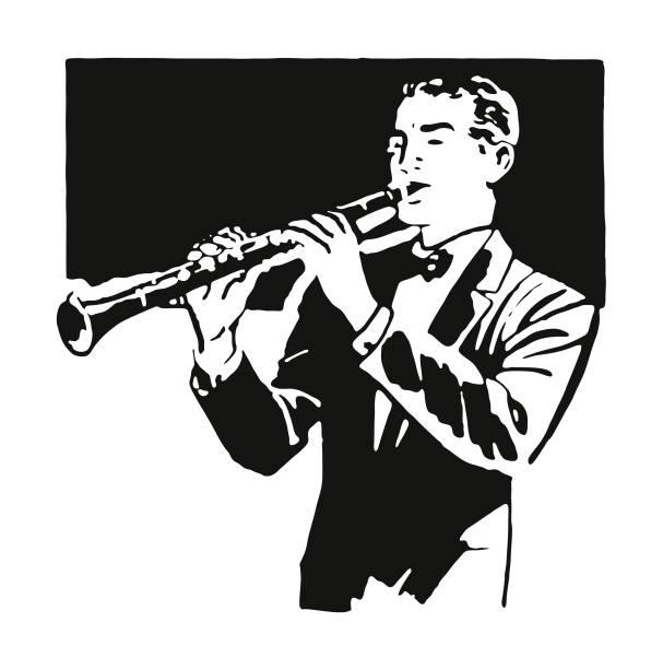 clarinet player - klarnet stock illustrations