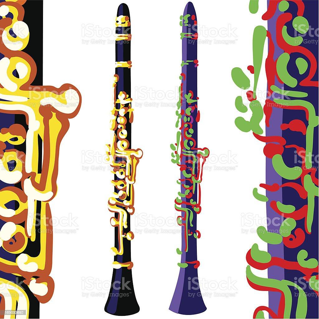 clarinets, verschiedene Farben – Vektorgrafik