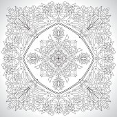 A beautiful vector Clasical Ornate Embroidery inspired on a persian style design.