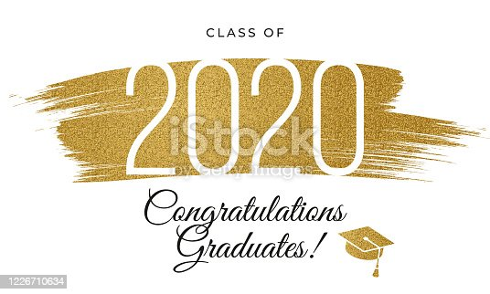Congratulations graduates 2020 class for Typography greeting, invitation card, web banner, congratulation, event, T-shirt, party.