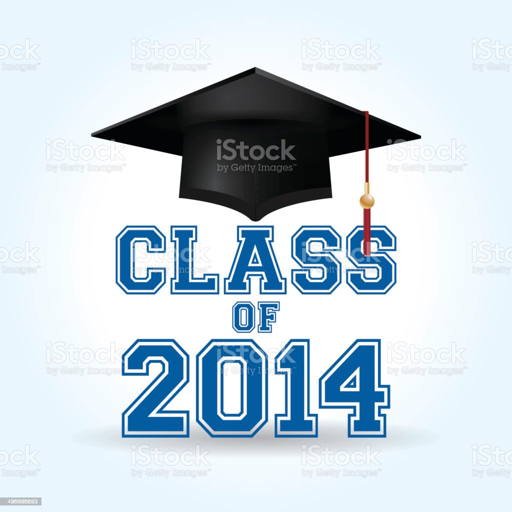 Class of 2014 royalty-free stock vector art