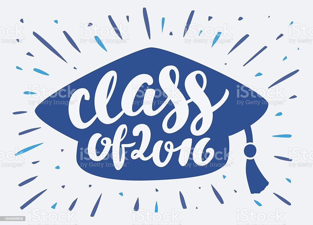 Class of 2016. vector art illustration