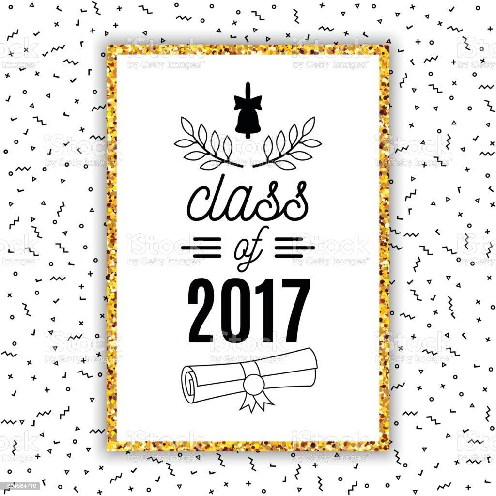 Clase De Tarjeta De Felicitación De Graduación 2017 Con Campana ...