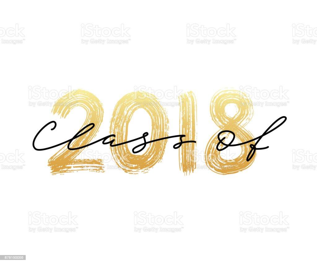 Class of 2018. Graduation logo