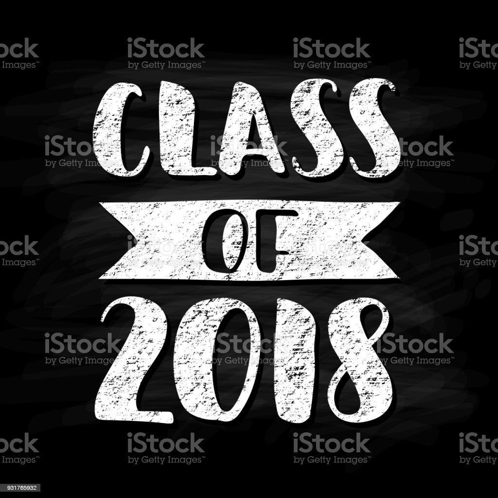 Klasse Für 2018 Handgezeichnete Bürste Die Abschlussfeier ...