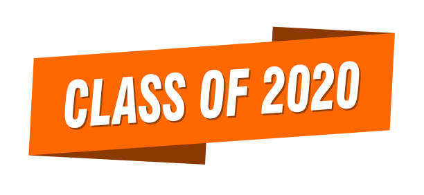 class of 2020 banner template. class of 2020 ribbon label sign vector art illustration