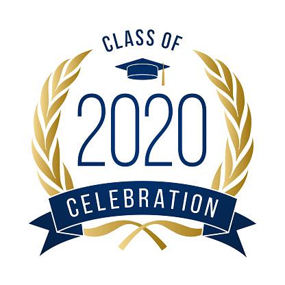 Class of 2020, Congrats Graduates label.